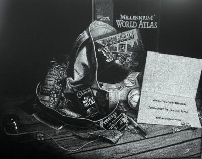 kendall king, scratchboard, portrait, other, commission, still life, numeric investors